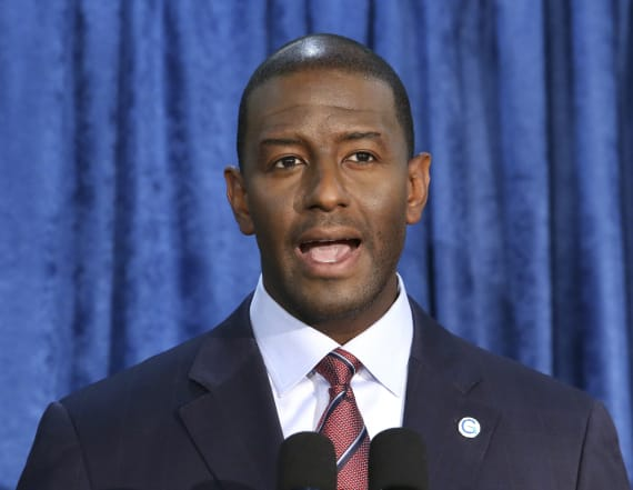 Gillum rips Santorum over claim guns aren't problem