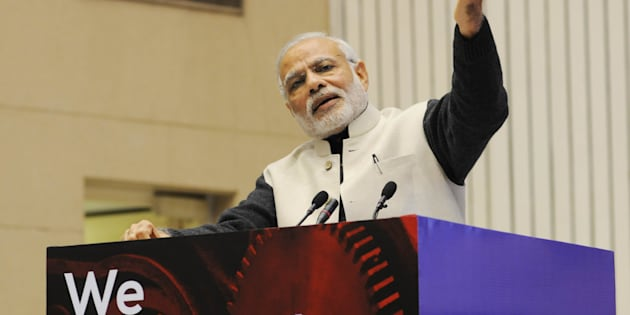Prime Minister Narendra Modi at the launch of Startup India in January 2016.
