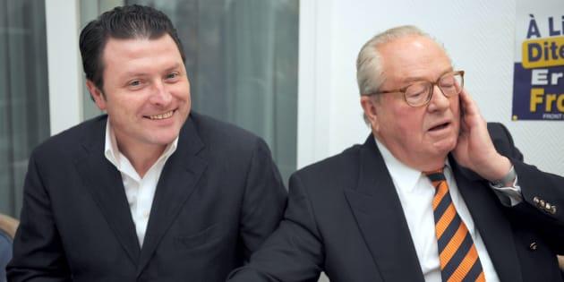 Eric Dillies et Jean-Marie Le Pen en 2008.