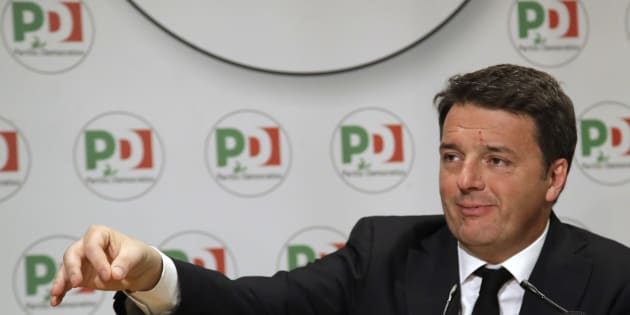 Democratic Party leader Matteo Renzi holds a press conference on the election results, in Rome, Monday, March 5, 2018. (AP Photo/Alessandra Tarantino)