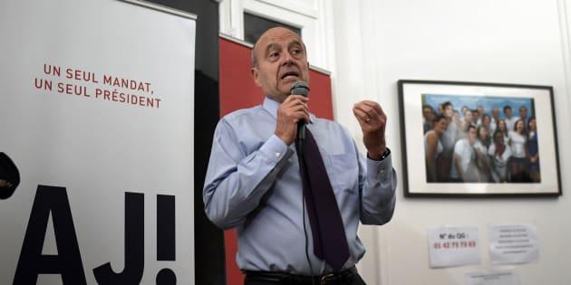 Alain Juppé dans son QG de campagne à Paris le 21 novembre 2016.