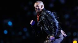 Justin Timberlake rinde tributo a Prince durante su participación en el medio tiempo del Super