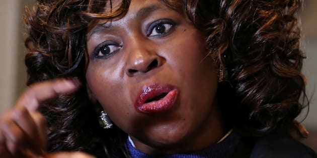 Makhosi Khoza gestures during an interview with Reuters in Johannesburg, South Africa, July 18, 2017. REUTERS/Siphiwe Sibeko