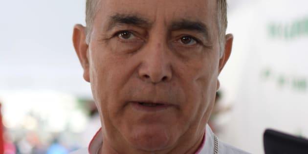 El obispo Salvador Rangel oficio una misa en la plaza primer Congreso de Anáhuac.