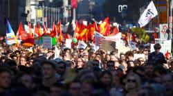 As imagens do protesto na Alemanha contra a xenofobia e extrema