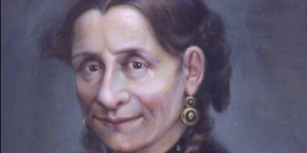 Ritratto della marchesa Vittoria Mosca eseguito da Cesare Gaj e conservato presso i Musei Civici di Pesaro