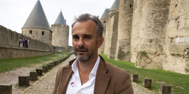 """Le philosophe Abdennour Bidar, président de l'association """"Fraternité Générale"""", dans les fortifications de Carcassonne, là où a eu lieu un rassemblement pour la fraternité, le 12 octobre 2017."""