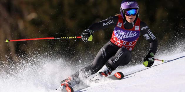 Tessa Worley a remporté la Coupe du monde de slalom géant à Aspen.