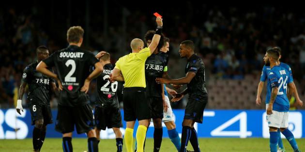L'OGC Nice a terminé la rencontre à 9 après deux expulsions.