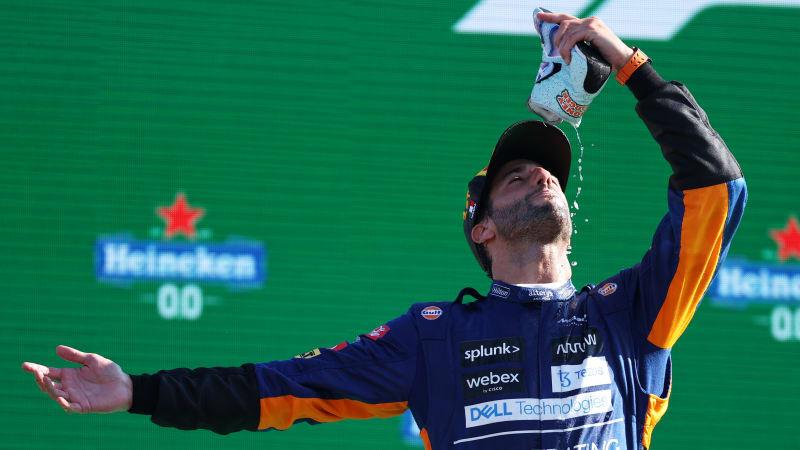 Daniel Ricciardo gewinnt den GP von Italien, während Verstappen und Hamilton ausfallen€