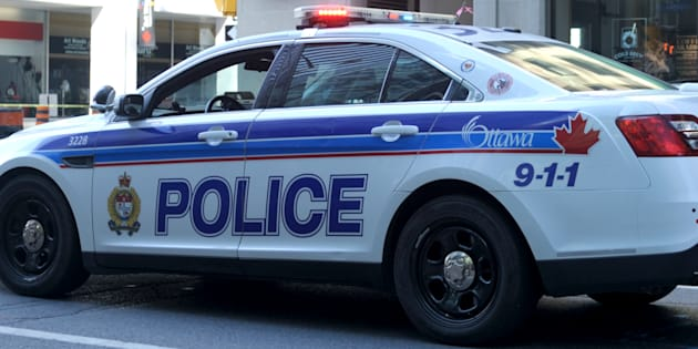 A Ottawa Police cruiser parked in downtown Ottawa conducting traffic control on June 25, 2016. Police say a man had his turban pulled off by two men during an attack on March 23.