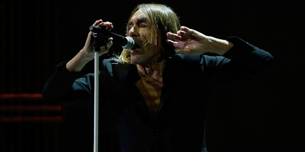 "Iggy Pop en concert pendant sa tournée ""Post Pop Depression"" (New York, avril 2016)"