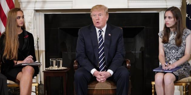 Donald Trump à la Maison Blanche le 21 février 2018.