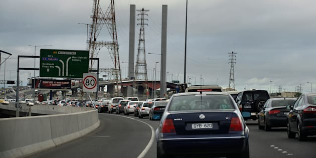 Traffic on the Bolte Bridge is at a standstill due to a taxi protest.