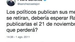 El tuit antiguo de Pedro Sánchez que más se está difundiendo tras anunciar su