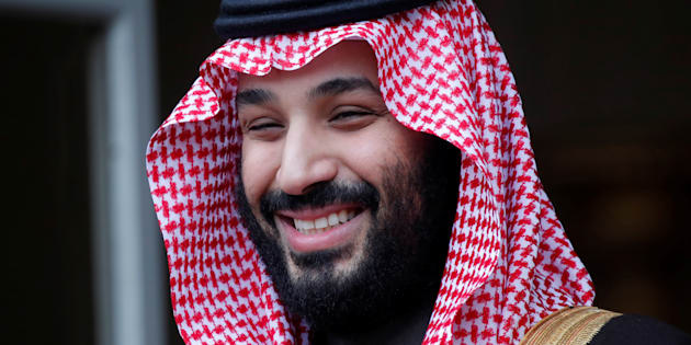 Saudi Arabia's Crown Prince Mohammed bin Salman at the Hotel Matignon in Paris, France, April 9, 2018. The crown prince's government has severed diplomatic relations with Canada and, in its latest move, appears to be trying to push down Canadian asset prices.