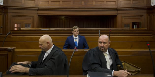 Murder accused Henri van Breda at the Western Cape High Court during day 11 of his trial on May 15, 2017 in Cape Town, South Africa.