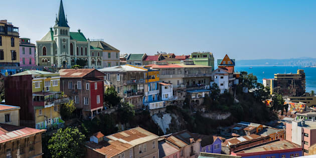 View over Valparaiso, in Chile.