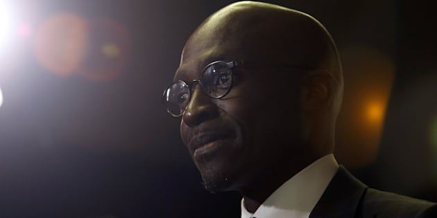 South African Finance Minister Malusi Gigaba speaks to journalists at the World Economic Forum on Africa 2017 meeting in Durban, South Africa, May 3, 2017. REUTERS/Rogan Ward