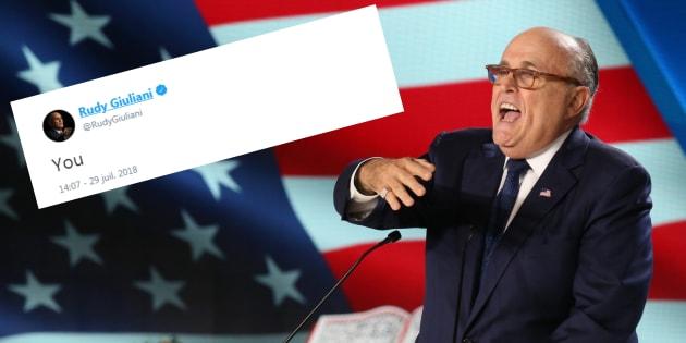 Mais qu'est-ce que Rudy Giuliani voulait dire avec ce tweet? Ces Américains imaginent la réponse