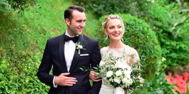 Matthew Lewis et Angela Jones se sont mariés en Italie.