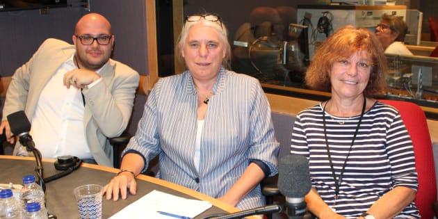 Vincent Geloso, Manon Massé et Diane Guilbault