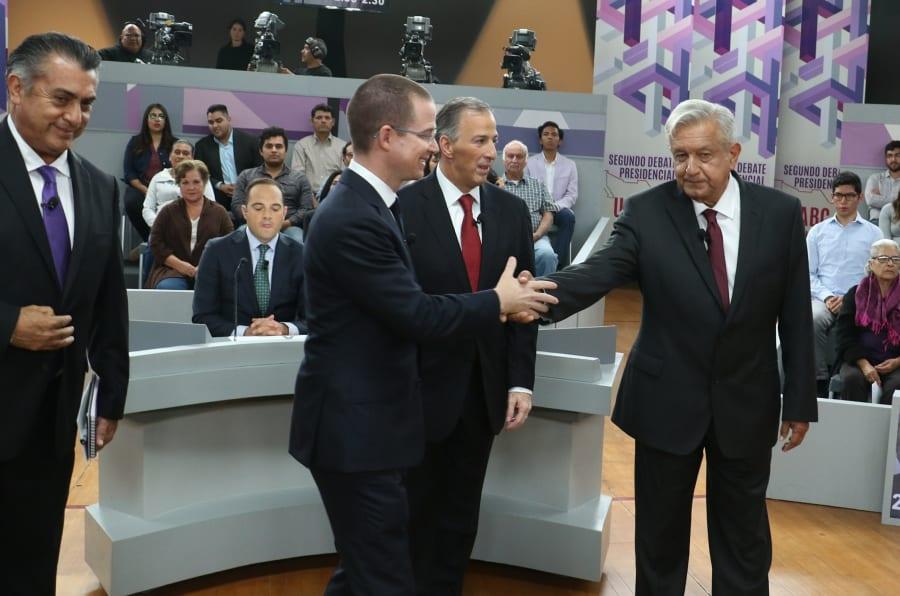 Imagen de los cuatro candidatos a la presidencia de México, Andrés Manuel López Obrador, José Antonio Meade, Ricardo Anaya y Jaime Rodríguez Calderón.
