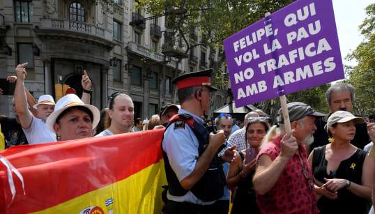 À Barcelone, l'hommage aux victimes des attentats n'aura pas suffi à réconcilier indépendantistes et