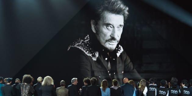 L'ultime hommage rendu par les Victoires de la musique à Johnny Hallyday le 9 février 2018.