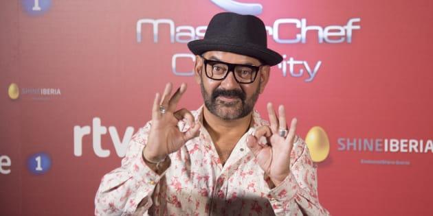 El actor José Corbacho durante la presentación de la 2 temporada del programa 'Masterchef Celebrity'.