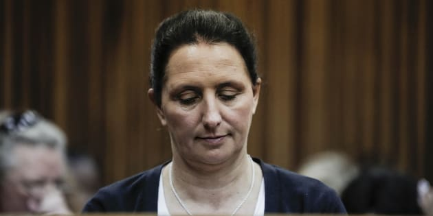 Convicted racist Vicki Momberg.