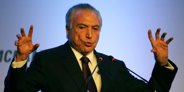 Presidente Michel Temer em evento em São Paulo.
