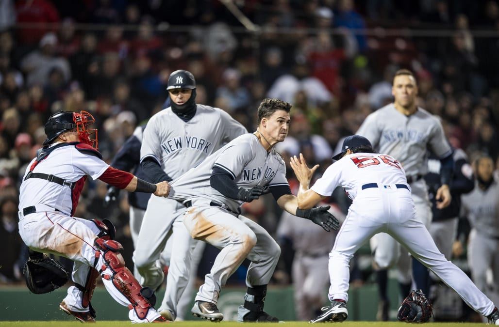 Image result for red sox yankees brawl