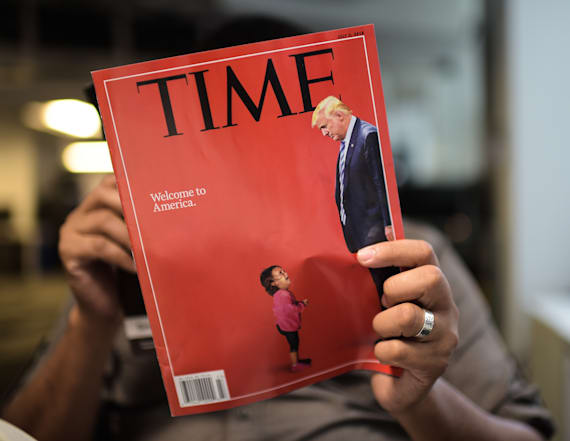 Time issues correction for photo of crying migrant