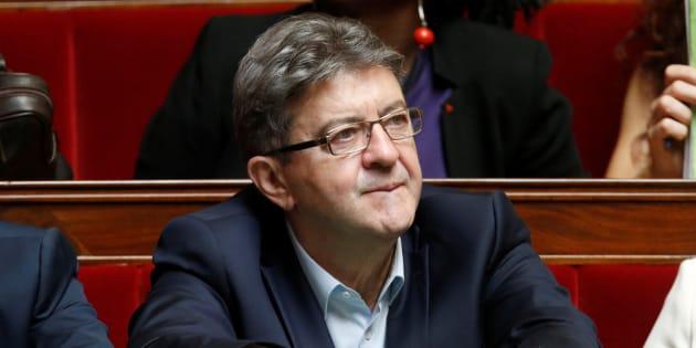 Jean-Luc Mélenchon à l'Assemblée nationale le 12 juillet 2017.