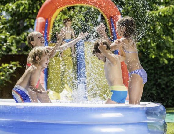 7 backyard water slides your kids will love