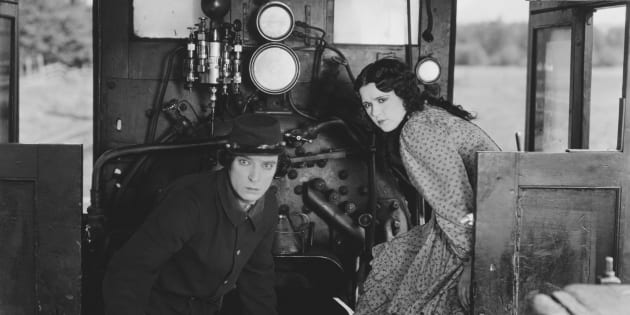 Buster Keaton y Marion Mack en 'El maquinista de la General' ( John Springer Collection/CORBIS/Corbis via Getty Images)
