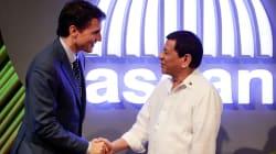 Trudeau trató el tema de derechos humanos en Filipinas y Duterte dijo sentirse