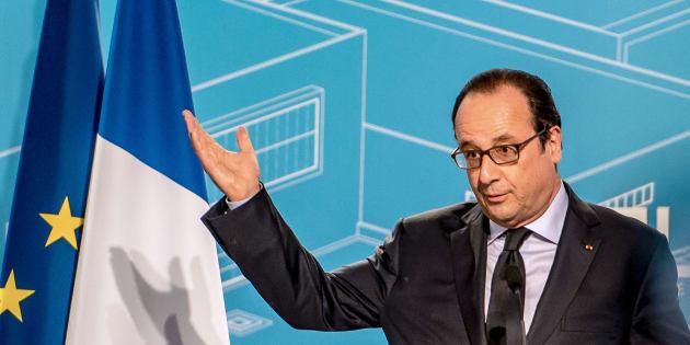 François Hollande tient un discours à Arras en juin 2016