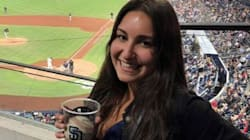 WATCH: Fan Makes Epic Foul Ball Catch With Her Beer Cup -- And Celebrates Like A