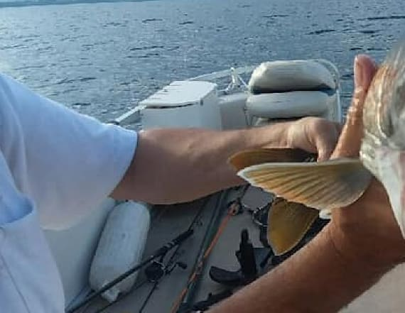 Woman stunned after catching fish with 'two mouths'