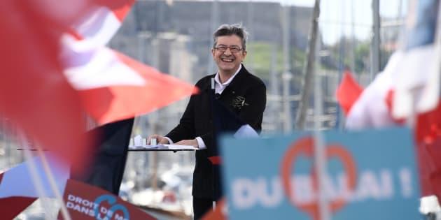 Jean-Luc Mélenchon sur le Vieux Port de Marseille ce dimanche 9 avril