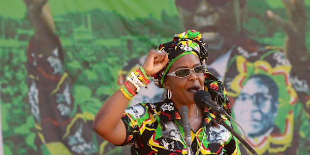 Grace Mugabe, wife of President Robert Mugabe, addresses a rally in Gweru, Zimbabwe, September 1, 2017.
