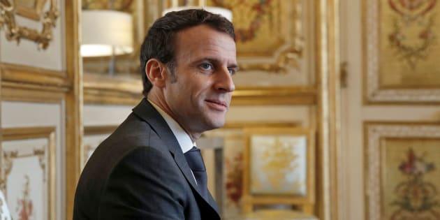 Emmanuel Macron à l'Élysée le 8 février 2019.