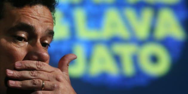 """Juiz Sergio Moro em fórum sobre a as operações """"Maos Limpas"""" e """"Lava Jato""""."""