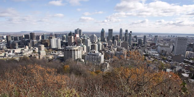 The Montreal skyline as seen from Mount Royal on Nov. 10, 2017.
