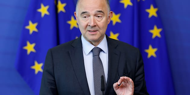 European Economic and Financial Affairs Commissioner Pierre Moscovici holds a news conference at the EU Commission headquarters in Brussels, Belgium, July 12, 2017. REUTERS/Francois Lenoir