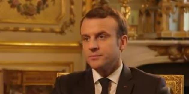 """Emmanuel Macron dans le documentaire """"La fin de l'innocence"""" diffusé sur France 3 le 7 mai 2018."""