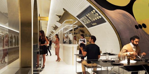 La station fantôme de la ligne 10 deviendra prochainement un lieu destiné à la gastronomie.