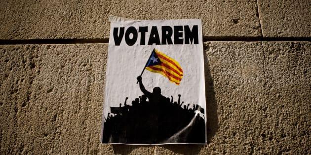 28/09/2017 Barcellona, manifestazione di studenti a favore del referendum per l'indipendenza della Catalogna indetto per il primo ottobre
